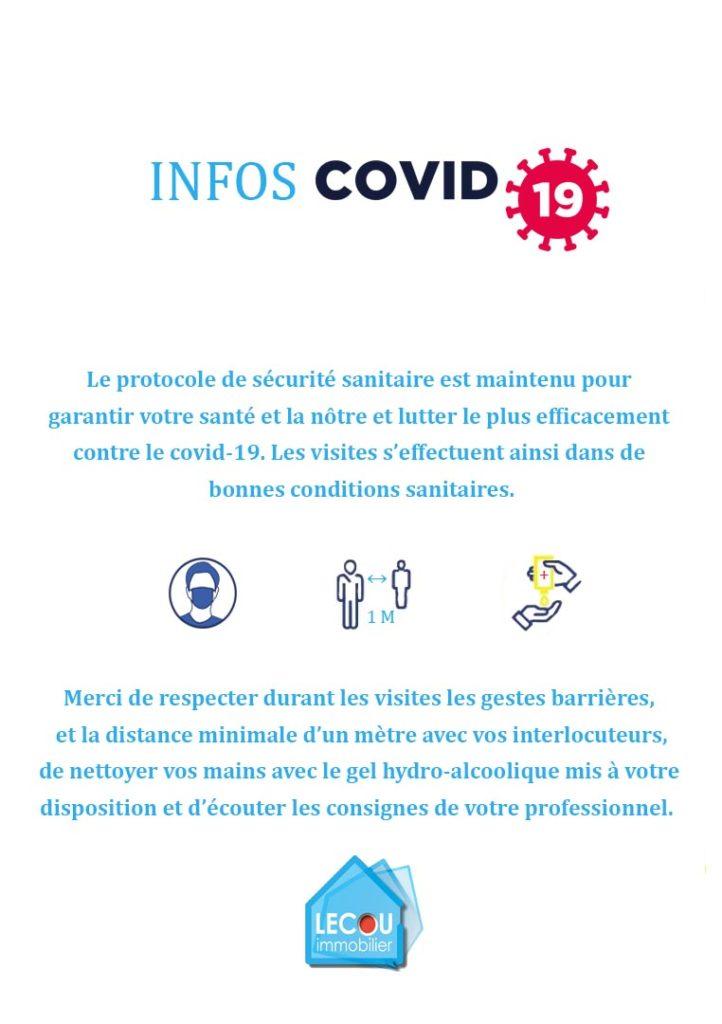Info protocole de sécurité sanitaire covid-19 par lecou-immobilier à vitry-en-artois ++