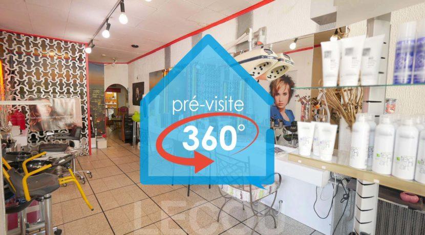 image de salon de coiffure en visite 360 à vitry-en-artois par lecou immobilier